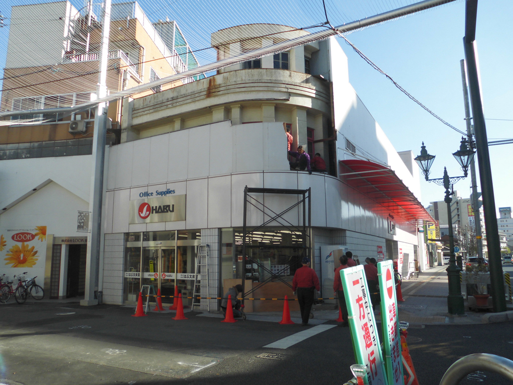 本店外壁部分の工事の様子_その2